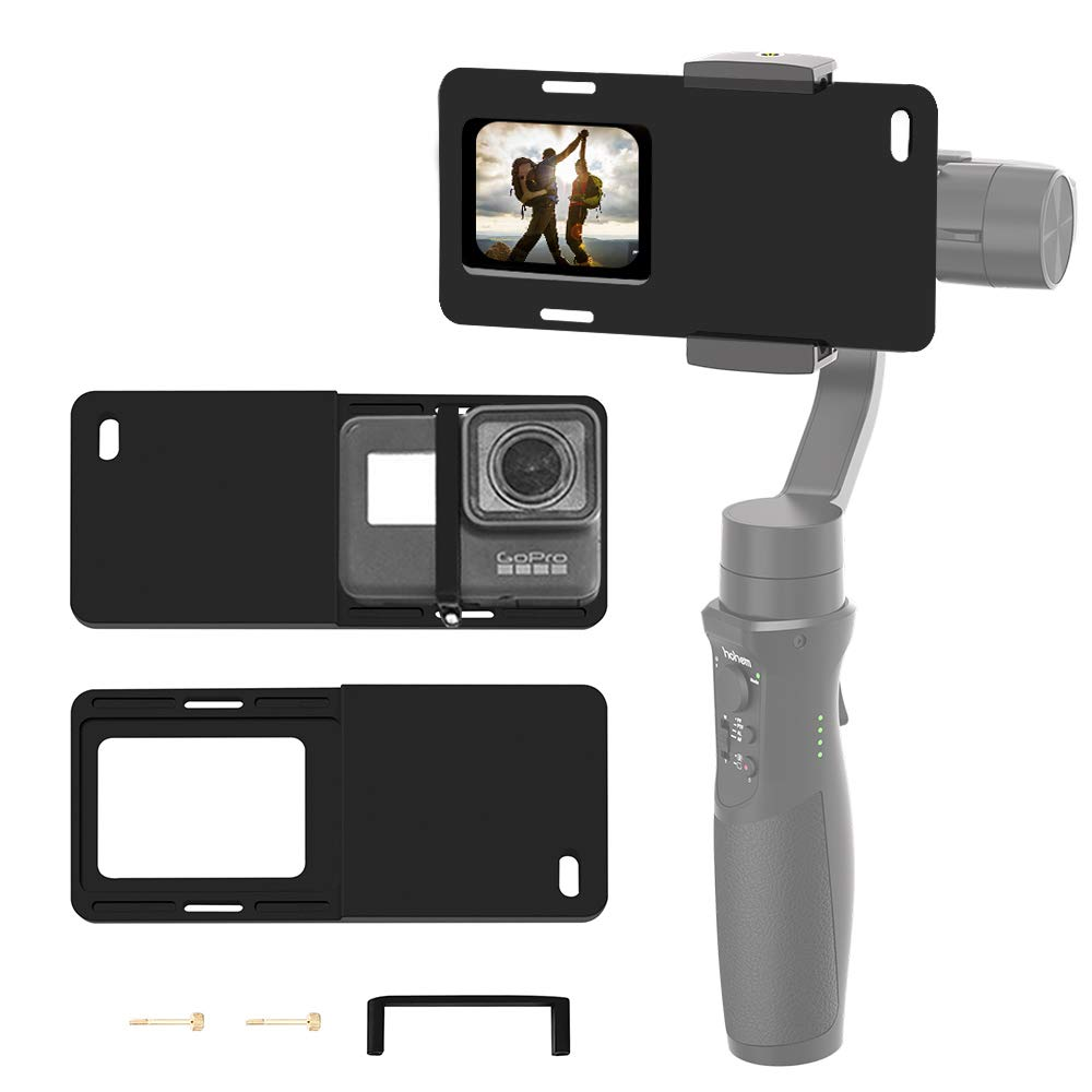 Hohem Action Camera Adapter for Smartphone Gimbal - Mount Plate GoPro Adapter for GoPro Hero 7 6 5 4 3+, Used on iPhone Gimbal, Hohem iSteady Mobile 2, DJI Osmo, Zhiyun Smooth 4 Q, etc. by hohem