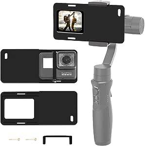 Negro para GoPro Hero 7 DJI OSMO Acción Cámara QR conector del adaptador de montaje de la base