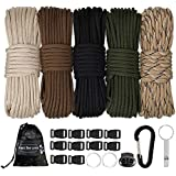 MONOBIN Paracord Combo Kits - 550 Type III Parachute Cord - Bracelet Crafting Kits, Survival Rope Making lanyards,Dog…