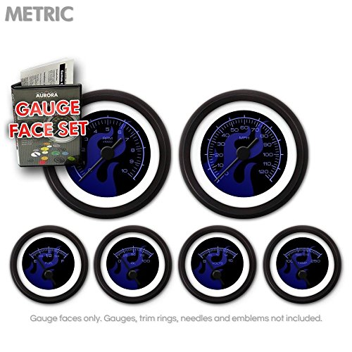 Aurora Instruments (GARFM83) Ghost Flame Black/Blue Gauge Face Set