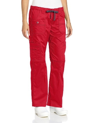 Crimson Scrubs Top - Dickies Women's Tall Plus Size GenFlex Cargo Scrubs Pant, Crimson, XX-Large
