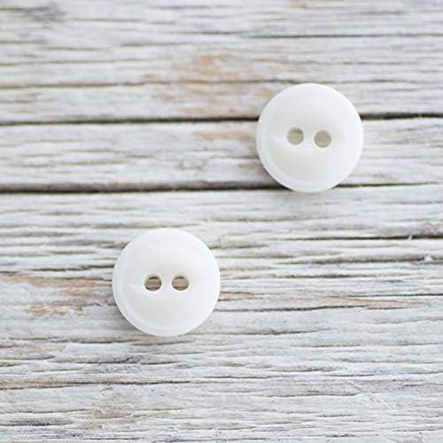 【丸型キャッツアイ(猫目)】ナットボタン #ONT08H 2穴 10mm C/#1 ホワイト 2個セット