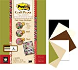 Post-it 8-1/2 by 12-Inch Craft Paper, Earth Tones, 6-Sheet/Pack
