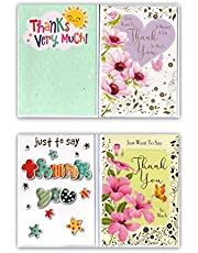 Pack of 8 Assorted Thank-You Cards & Envelopes. Mixed Design