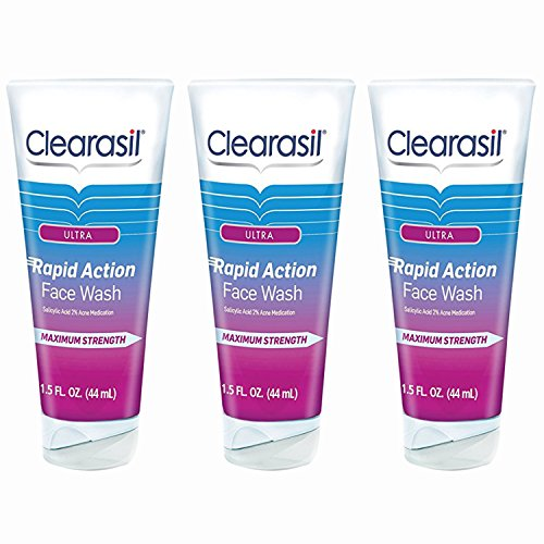 Clearasil Ultra Rapid Action Daily Face Wash, 1.5 oz.(Pack of ()