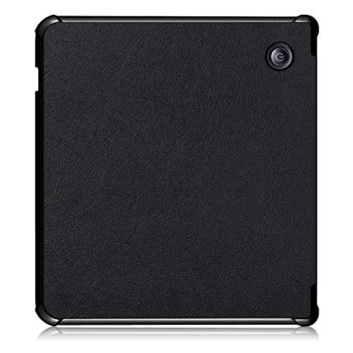Gylint Kobo Libra H2O Origami Case, The Thinnest and Lightest Leather Smart Cover Case for New Kobo Libra H2O 2019 Release with Auto Wake Sleep Feature Black