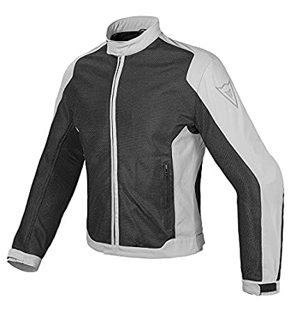 Dainese-AIR FLUX D1 TEX Chaqueta, Negro/High-Rise, Talla 48