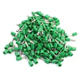 Aexit 190Pcs Green E2508 Metal Tube Pre-Insulated Terminals for 14AWG Wire