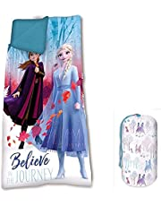 Frozen 68 x 138 cm 2 Sleeping Bag Camping and Hiking Children, Youth Unisex, Multi-Colour, One Size