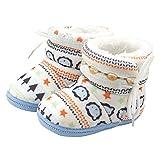Tenworld Baby Girls Prewalker Booties Shoes Soft Warm Winter Snow Boots (Blue 2)