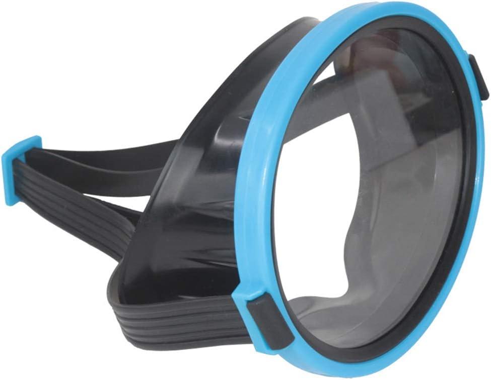 Creacom Retro Oval Classic Lente Individual Snorkel Máscara de Buceo, Lente Individual Máscara de Buceo Gafas de protección Subacuática Scuba Snorkel Máscara Equipo de Buceo Snorkel Azul