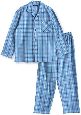 【ノーブランド品】 フリース 長袖 メンズ パジャマ 冬 ふんわり あったか フリース素材 シンプル チェック柄