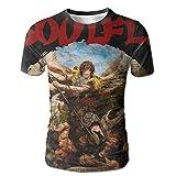 XINSHOU Soulfly Archangel Men's 3D All Print Short Sleeve Tshirt L