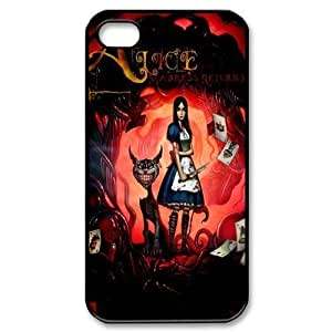 8325189M54658046 Game DIY Design 9 Alice Madness Returns Print Black Case With Hard Shell Cover for Apple iPhone 5/5S