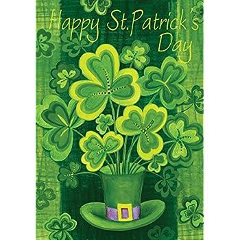 Toland   Shamrockinu0027   Decorative Patrick Saint Pat Clover Shamrock Green  USA Produced Garden
