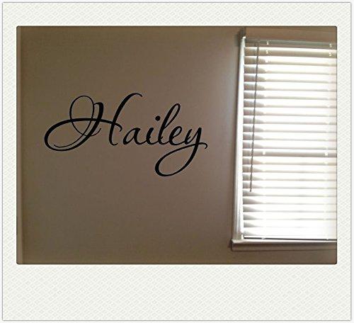 Hailey Girls Room Name Nursery Baby Kids Pretty Vinyl Wall Quote Sticker