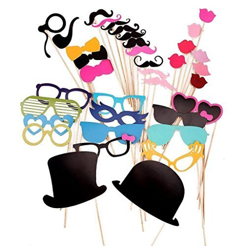 SHINA Colorful Props for Party Fun Christmas Wedding Favor Birthday Favor with Glasses 36 -