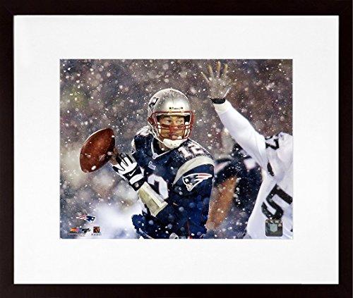 "New England Patriots Tom Brady ""Snow Game"" 8x10 Photograph (SGA UnderFifty Series) Framed"