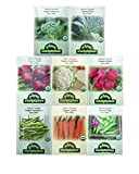 Premium Winter Vegetable Seeds Collection.Certified Organic Non-GMO Heirloom Seeds USDA Lab Tested. Broccoli, Beet, Carrot, Cauliflower, Green Bean, Kale, Pea, Radish. Gardener