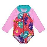 #10: YiZYiF Baby/Toddler Girls' Flower Rash Guard Swimsuit Sun Protection Bodysuit Swimwear