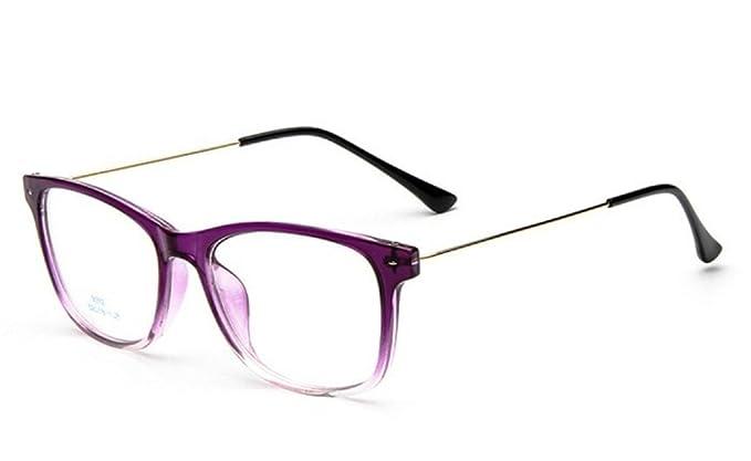 f64235e9ce8f6 Flowertree Unisex S9352 Lightweight Super Thin Arm Wayfarer 52mm Glasses  (purple)