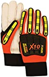 (12 Pair) Majestic COTTON PALM GLOVES WITH X10 BACK, KNUCKLE & FINGER GUARDS - SMALL(21262HO/ 8)
