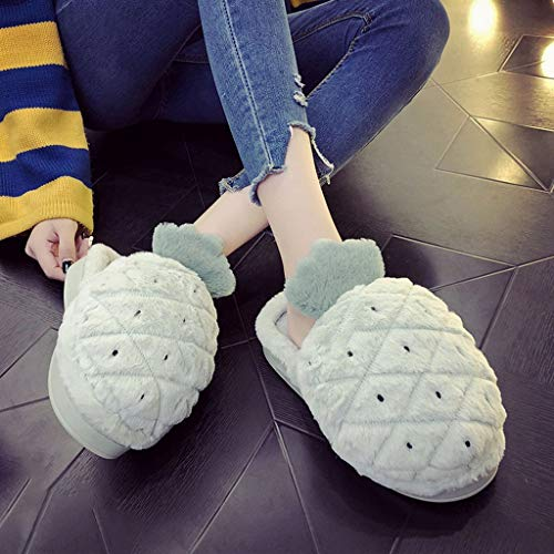 Coton 38 Verts d'hiver Mignon HUYP La Féminins Les La Antidérapant Maison Épaissent Mode D'intérieur Chaussons À Inférieure De Taille CBUqwt