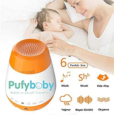 Heartbeat Ocean Shhh 6 Sleep Soothing Sounds Include Lullaby Auto-Off Timer U UZOPI Travel Sleeping Shusher with USB Charging White Noise Portable Baby Sleep Soother Sound Machine Rain