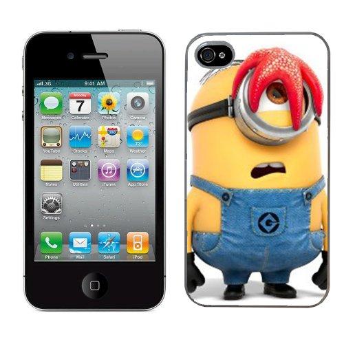 Moi moche et méchant Despicable me film minion cas adapte iphone 4 et 4s couverture coque rigide de protection (11) case pour la apple i phone