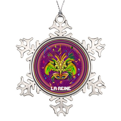 hanjear59 Ideas for Decorating Christmas Trees Mardi Gras Queen Style 3 View Notes PLSE Monogrammed Christmas Snowflake Ornaments Tree Decor Mardi Gras ()