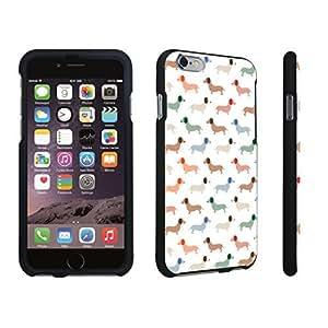 DuroCase ? Apple iPhone 6 - 4.7 inch Hard Case Black - (Dachshund Puppy)