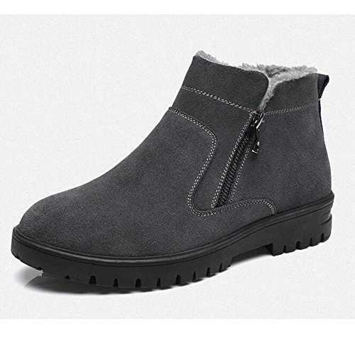 Winter snow boots shoes plus velvet warm waterproof cotton boots Martin boots,39 grey by ZRLsly