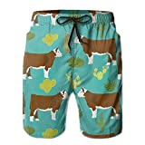2018 pants Hereford Cow Men's Summer Boardshorts Outdoor Water Sports Shorts Quick Dry Casual Beach Shorts