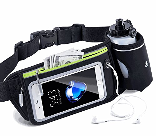 Advanced Fanny Pack, Water-resistant Waist Bag for Women & Men in Gym or Outdoor Sports, Workout Fitness Running Belt for iPhone Xs Max, XR, XS/X, 8/7 Plus, Samsung Galaxy S10/S9/S8 Plus/Note and more