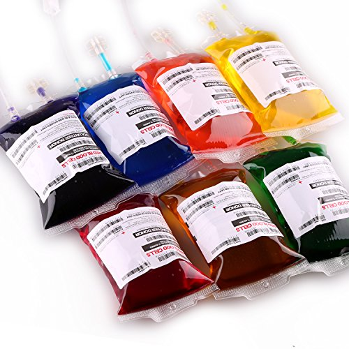 Live Blood of Theme Parties Blood Bag Drink Container Set of 10 IV Bags 11.5 Fl Oz, Halloween Party Cups, Gag Gift