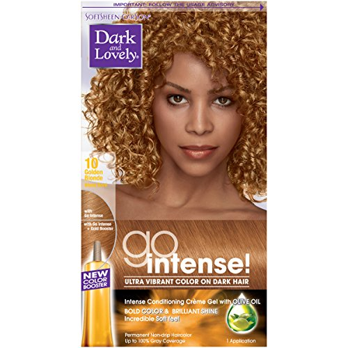 SoftSheen-Carson Dark and Lovely Go Intense Ultra Vibrant Color on Dark Hair, Golden Blonde 10 (Packaging May Vary)