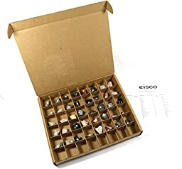 Eisco Basic Rocks and Minerals Kit - Contains 40 specimens measuring approx. 1\