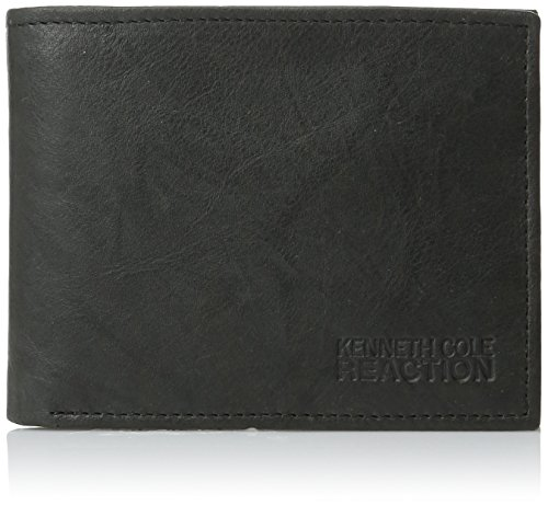 Kenneth Cole REACTION Men's Philmore Wallet with Non Removable Passcase, Black, One Size
