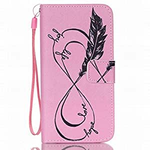 For Samsung Galaxy S6 / G920 Protective Case, Fashion New FocusUp(TM) Personality Feather Stylish Bumper PU Leather Cover Wallet
