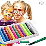 ETCBUYS Face Paint Crayons - 12 Piece Face Painting Kits and Washable Face Paints for Kids Face Painting and Body Paint for Kids Party Games, Makeup and Professional Face Painting Kit for Adults