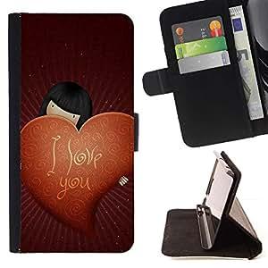 Momo Phone Case / Flip Funda de Cuero Case Cover - Amor Te Amo - Samsung Galaxy S6 Active G890A