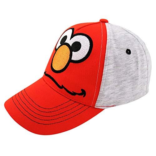 - Sesame Street Elmo Heather Jersey Baseball Cap, Toddler Boys, Age 2-4 (Elmo, Heather Grey/Red, Ages 2-4)