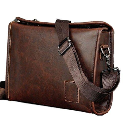 C 'est moi Hombres Bolsa Retro Bolsa de hombro Twist Lock las tendencias de diseño Volumen Mediano bolso bandolera de piel