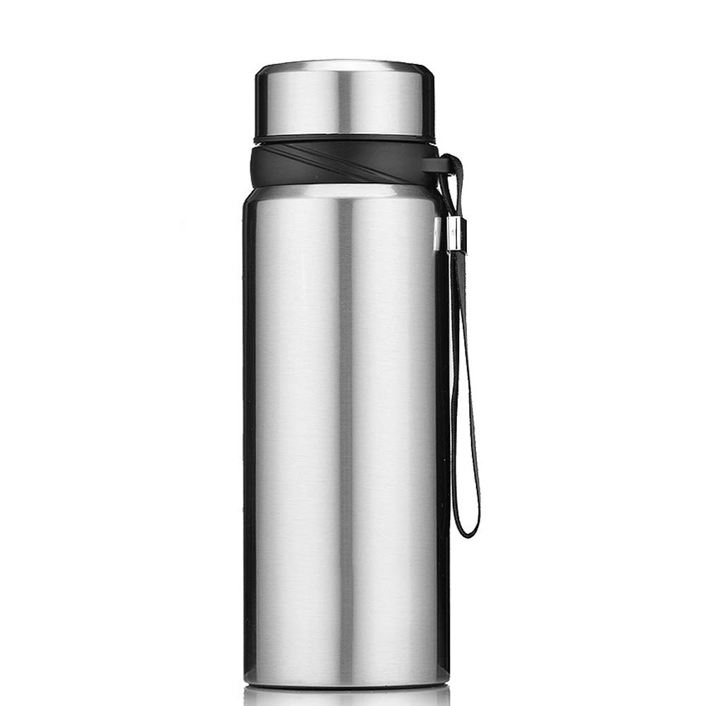 TRUE Travel Water Bottle, Insulated Stainless Steel LeakProof Portable Thermal Flask Suitable for Cycling Camping Hiking Travel Gym,True