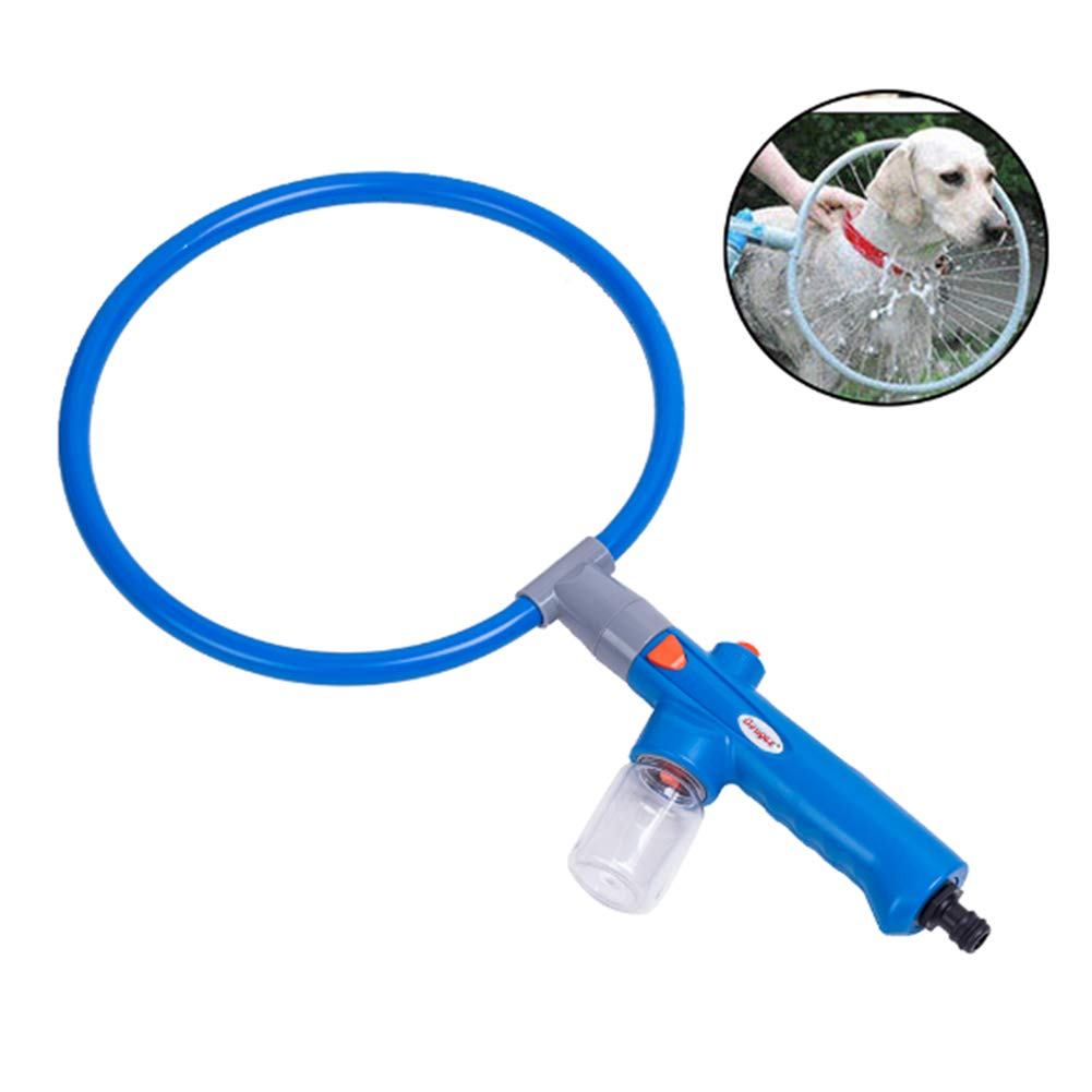JiMany Pet Dog Puppy Shower Tool 360 Degree Set Washing Machine Spray Cleaner Cleaning Ring Tool Accessories,Small