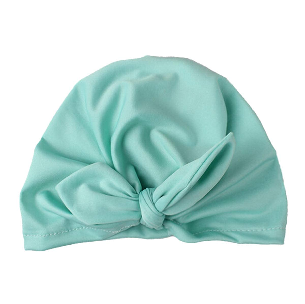 remeo suit Newborn Infant Baby Boy Girl Hospital Hat Bunny Ears Indian Turban Wrap Knot Cap