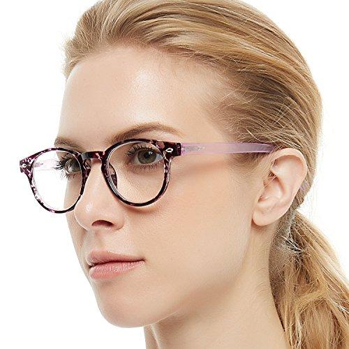 OCCI CHIARI Lightweight Designer Acetate frame Stylish Reading Glasses For Women (15006-Purple, 0.0)