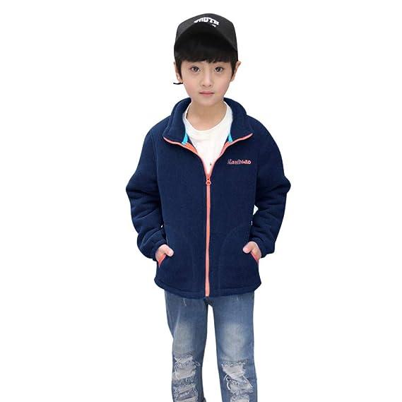 K-Youth Ropa Niños Invierno Abrigo de Niño Fleece Uniforme de béisbol Chaqueta Niño Trenca Abrigo para Niñas Abrigo Bebe Niña Otoño Calentito Jacket para ...