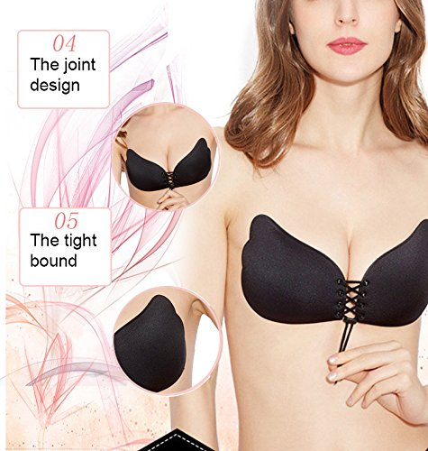 Amazon.com: Adhesive Bra Reusable & Drawstring Backless Strapless Silicone Sticky Bra Invisible Push Up for Wedding Dress, Backless/Strapless Evening Gowns, ...