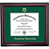 Campus Linens Castleton Spartans Diploma Frame Green Gray Matting Embossed Seal